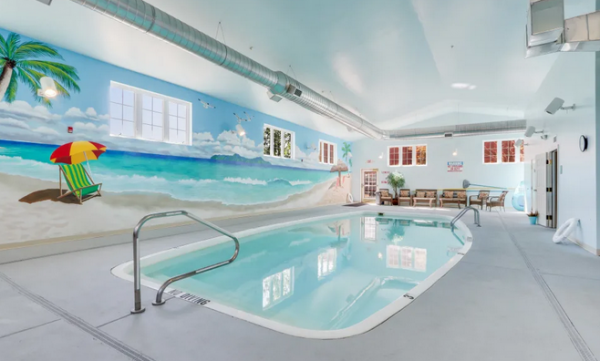 Indoor pool in Keystone Place at Legacy Ridge