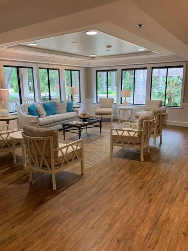 Resident living room in The Seabrook of Hilton Head