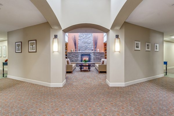 Hawthorn Court at Ahwatukee lobby looking into living area