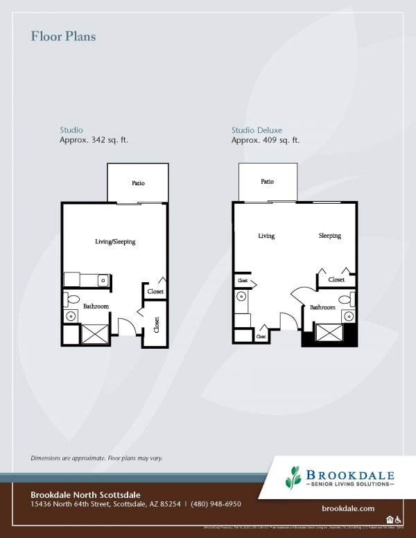 Brookdale North Scottsdale floor plan 1