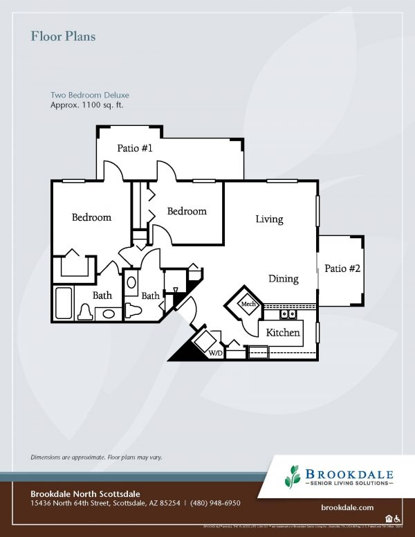Brookdale North Scottsdale floor plan 4