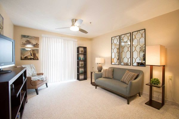 Sierra Winds model apartment living room