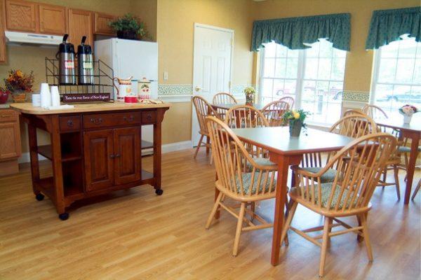 Bistro and common area in Cape Cod Senior Residences