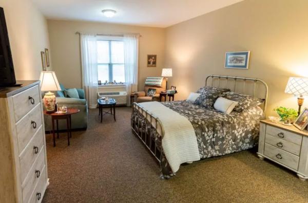 Model bedroom in Arbor Ridge at Stanleyville