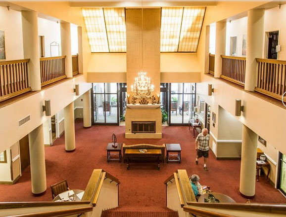 Country Club Village lobby and foyer area from the second floor