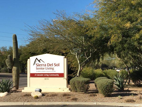Sierra Del Sol Memory Care entrance sign