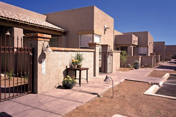 Outside walking paths and sidewalks at The Fountains at La Cholla