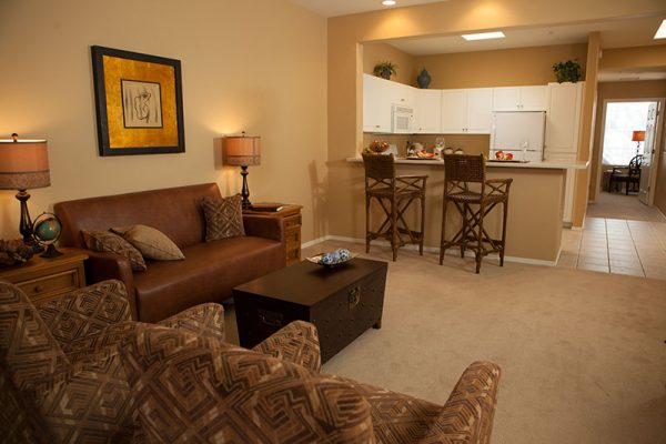 Model apartment home in The Fountains at La Cholla