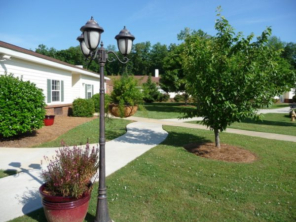 Outdoor walking paths and green spaces at Autumn Cove