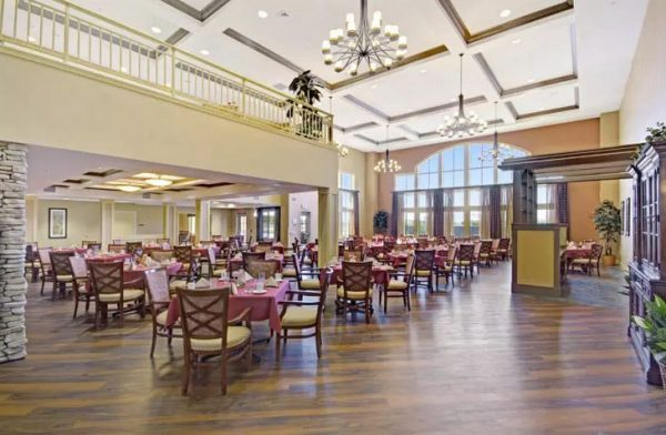 The Oaks community dining room