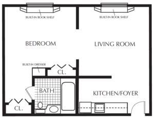 St. Martin's in the Pines AL one bedroom floor plan