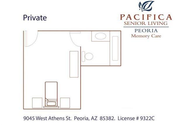 Pacifica Senior Living Peoria private floor plan