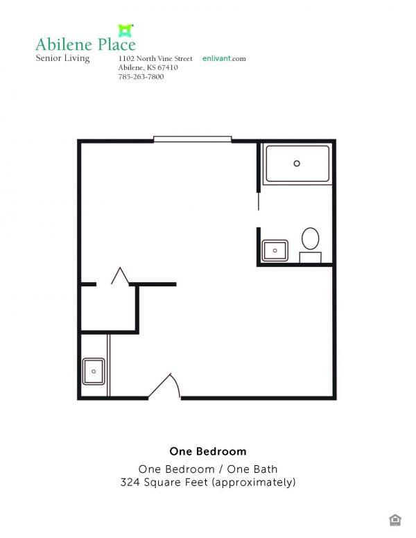 Abilene Place one bedroom floor plan