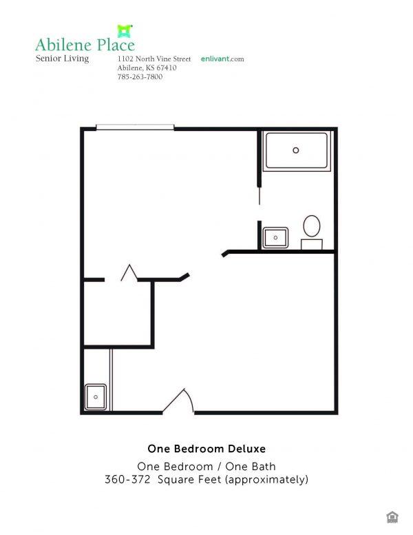 Abilene Place one bedroom deluxe floor plan