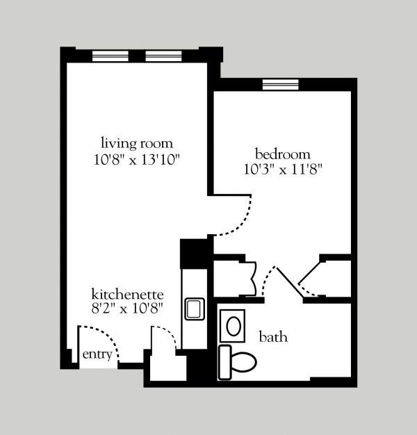 Addison Place at Glastonbury 1 bedroom floor plan