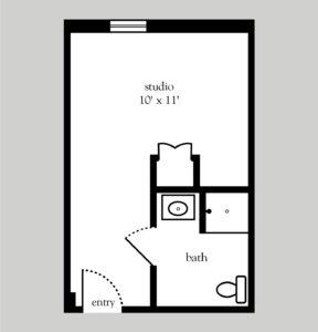 Addison Place at Glastonbury MC studio floor plan