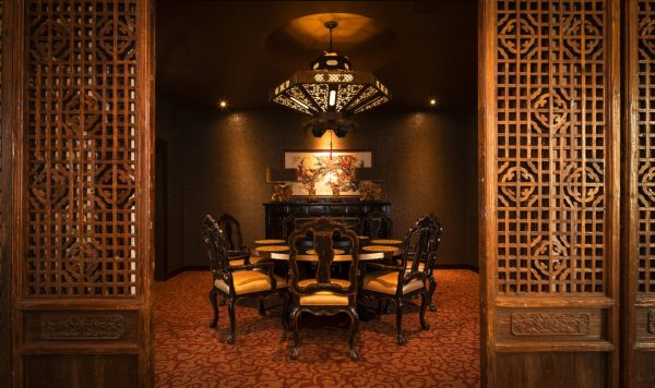 Private dining room with Oriental decor at Aegis Gardens Newcastle