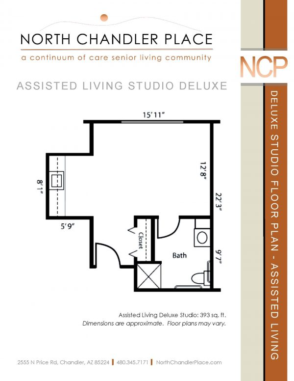 North Chandler Place Assisted Living floor plan 1