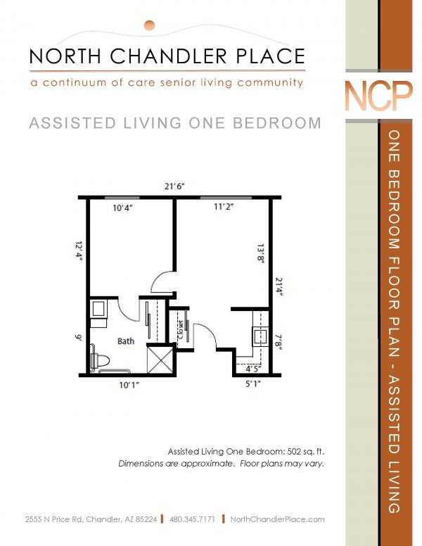 North Chandler Place Assisted Living floor plan 2