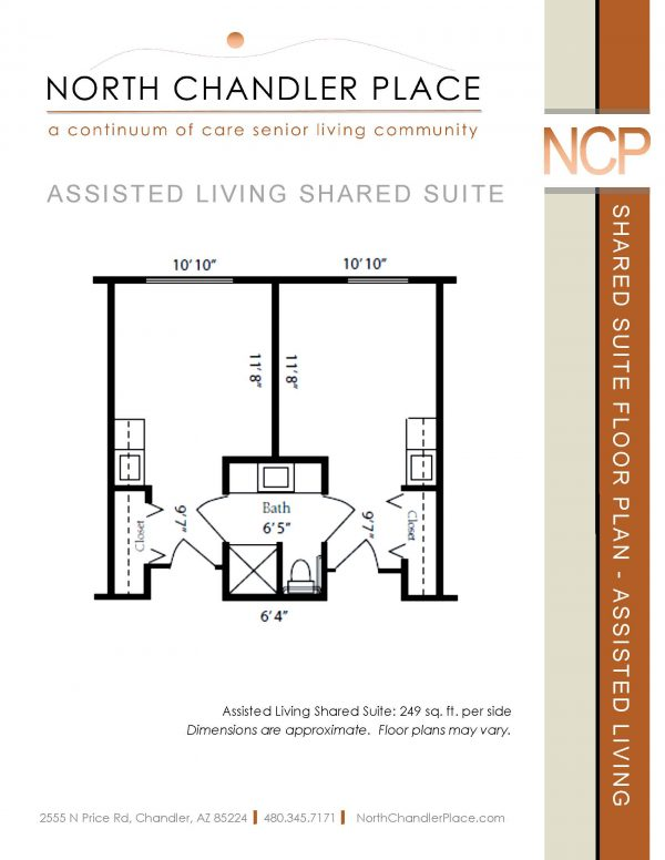 North Chandler Place Assisted Living floor plan 3