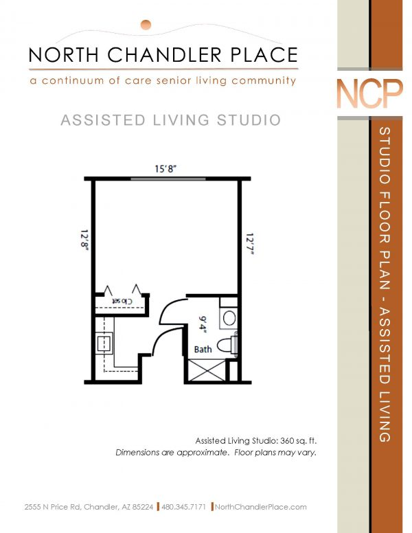 North Chandler Place Assisted Living floor plan 4