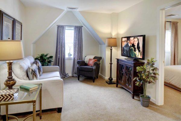 Model apartment interior in Addison Place at Glastonbury