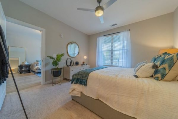 Bedroom of retirement community in Charlotte NC