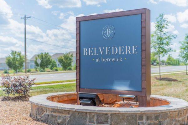 Entrance sign at Belvedere at Berewick
