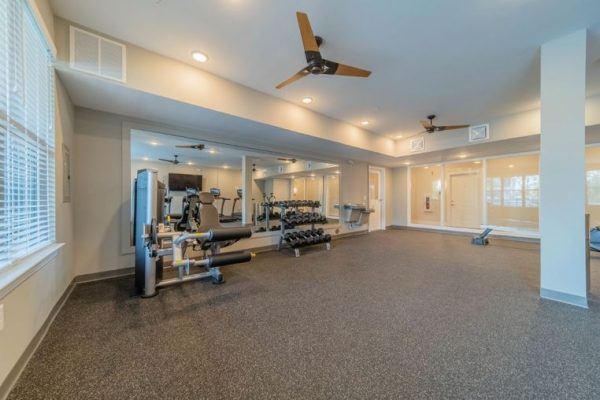 Fitness center interior at Belvedere at Berewick