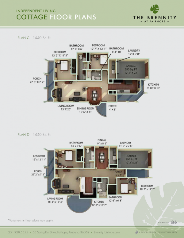 The Brennity at Fairhope cottage floor plans 2