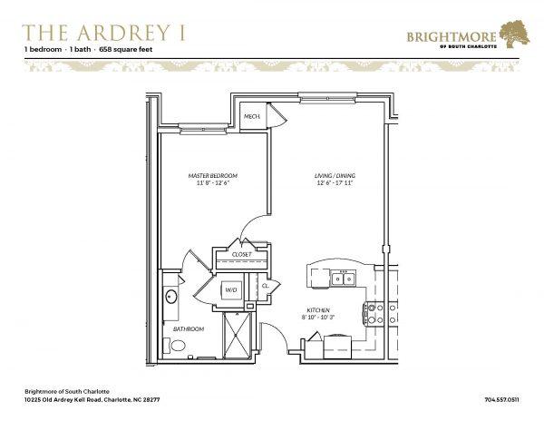 Brightmore of South Charlotte floor plan 1