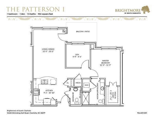 Brightmore of South Charlotte floor plan 8