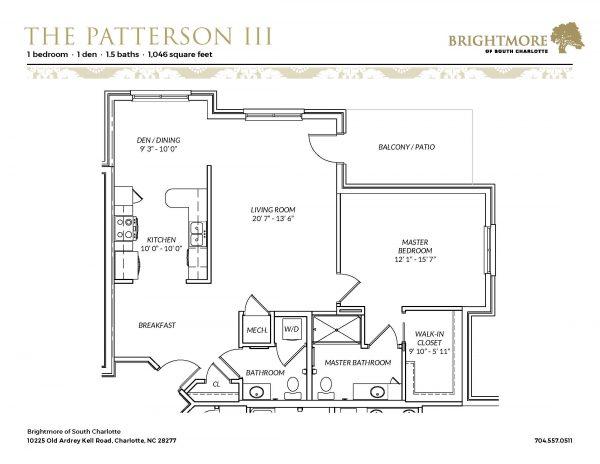 Brightmore of South Charlotte floor plan 10