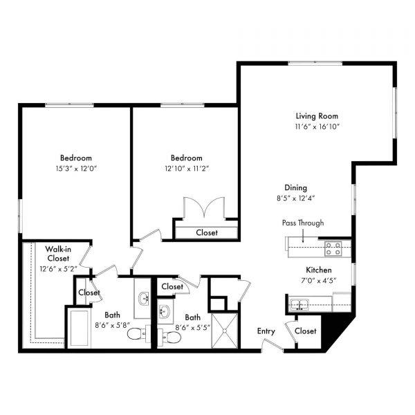 Brookridge Retirement Community Brookridge 2 bed deluxe floor plan