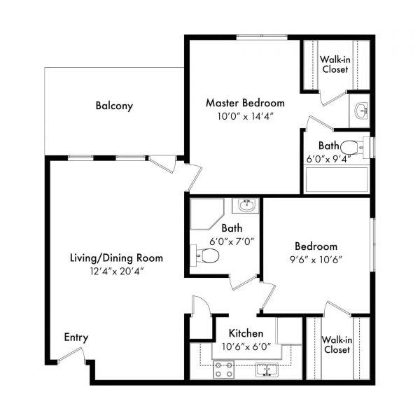 Brookridge Retirement Community Brookridge 2 bed floor plan