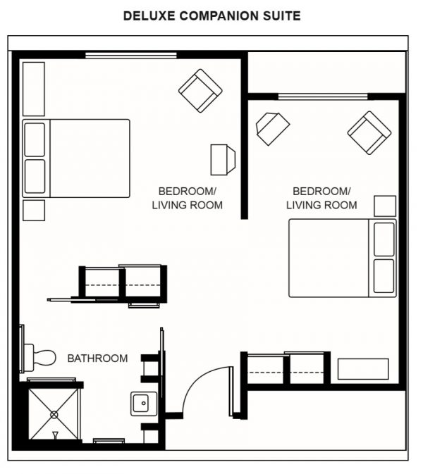 Hawthorn Court at Ahwatukee companion room floor plan