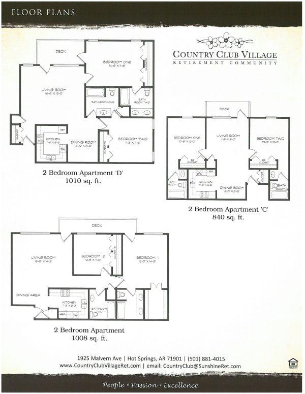 Country Club Village floor plan 2