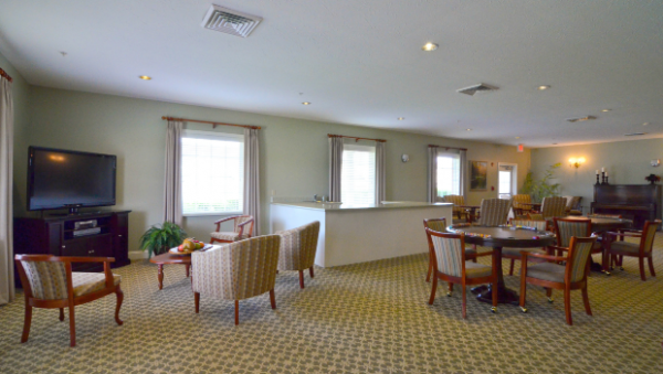Common area with resident seating in The Terrace at Priceville