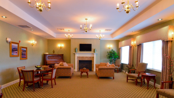 Community living room in The Terrace at Priceville