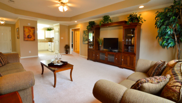 The Terrace at Priceville model living room