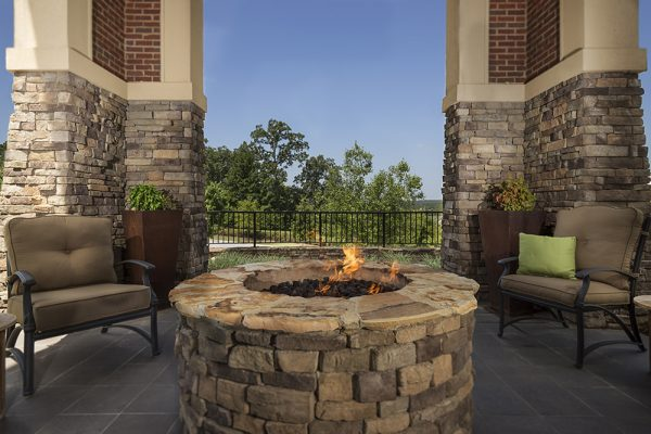Outdoor firepit and seating at Danberry At Inverness