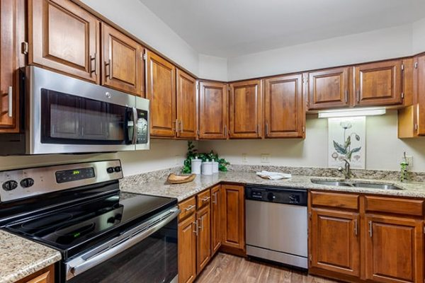 The Watermark at Broadway Cityview model home kitchen