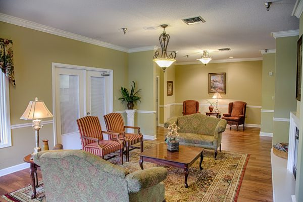 Common area and living space in The Brennity at Fairhope