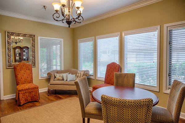 The Brennity at Fairhope assisted living common area