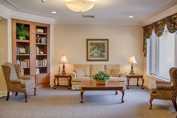 Common living area in the assisted living space at The Brennity at Fairhope