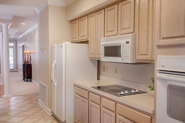 The Brennity at Fairhope independent living kitchen area