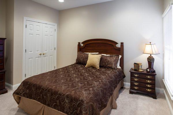 The Brennity at Fairhope model bedroom