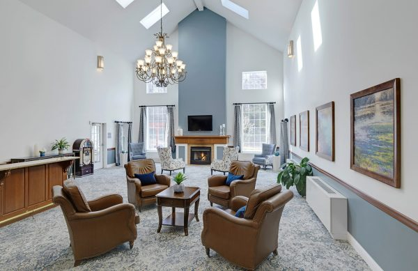 The Residence at Ferry Park community living room