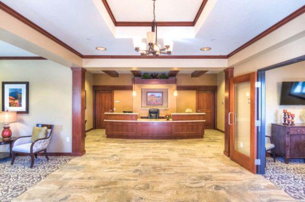 Catalina Springs Memory Care reception desk