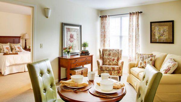 Model residence interior in Atria Greenridge Place